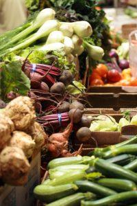 farm fresh vegetables at farmer's market