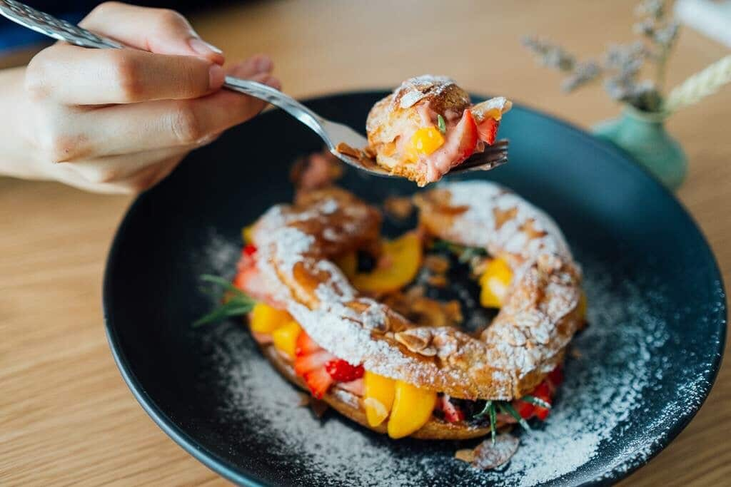 Peach Melba French Toast ala Inn on Putney Road 1