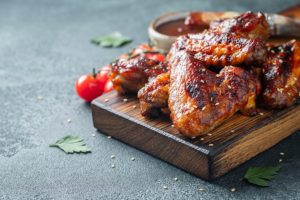 Spicy chicken wings on the menu at Whetstone Restaurant