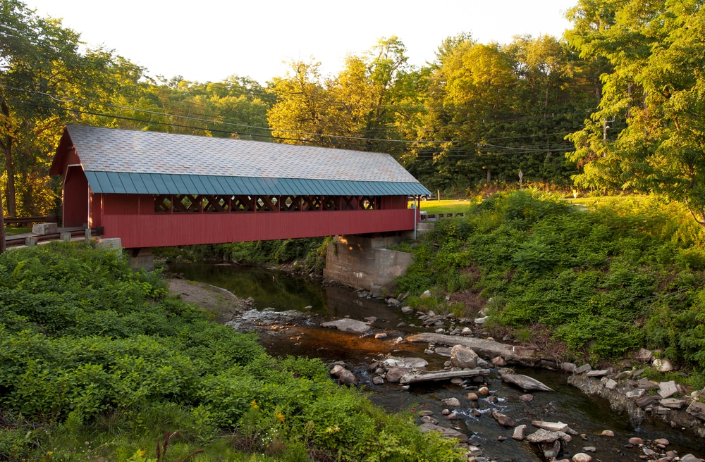 Visiting the Creamery Bridge is just one of the many great things to do in Brattleboro VT this summer